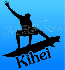Male Kihei Surfer Decal Sticker