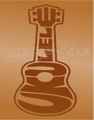 Ukulele Silhouette 1 Decal Sticker