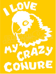 Parrot Pet Conure Decal Sticker