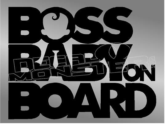 funny car window Baby Boss on board car safety sticker decal
