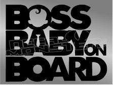 Boss Baby on Board Decal Sticker