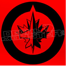 Winnipeg Jets Blacked Out Decal Sticker