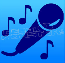 Singer Musician 1 Decal Sticker