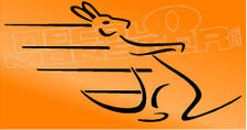 Bolting Kangaroo Decal Sticker