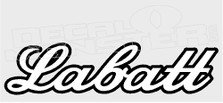 Drinks Labatt Beer Script Decal Sticker