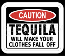 Drinks Tequila Warning Sign Decal Sticker