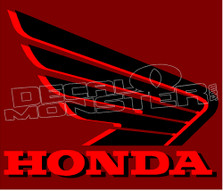 Honda Wing Shadowed Edition Decal Sticker