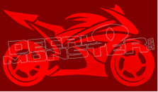 Street Bike Silhouette 3 Decal Sticker
