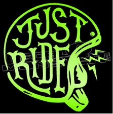 Just Ride Street Cruiser Edition Decal Sticker