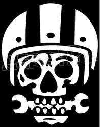 Evil Knievel Mechanic Decal Sticker