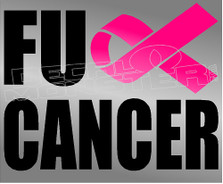Fuck Cancer Silhouette 1 Decal Sticker