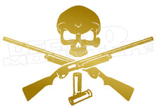 Skull and Cross Shotguns Decal Sticker