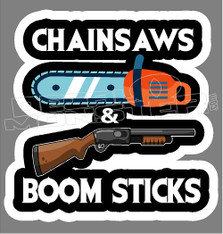 Redneck Chainsaws and Boom Sticks Decal Sticker