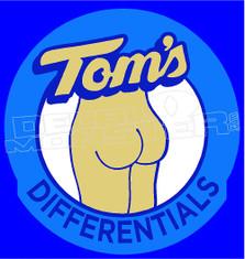 Toms Autobody Differntials Decal Sticker