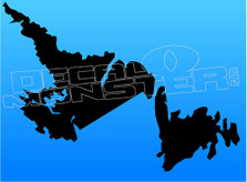 Newfoundland and Labrador Solid Outline 3 Decal Sticker