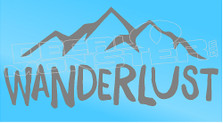 Wanderlust Mountains Background Decal Sticker
