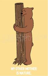 Bear Nature Tree Hugger Decal Sticker