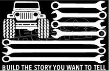 USA Jeep Mechanic Decal Sticker
