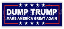 Dump Trump Make America Great Again Decal Sticker
