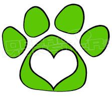 Pets Dog Heart Paw Decal Sticker
