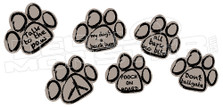 Pets Dog Paws Quotes Decal Sticker
