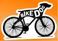 Pets Dog Greyhound Bike Dog Decal Sticker