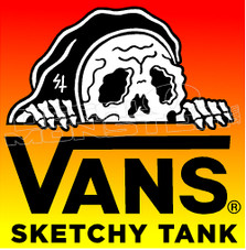 Vans Sketchy Tank Decal Sticker