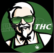 Marijuana Weed KFC THC Funny 1 Decal Sticker