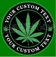 Cannabis Weed Label Your Custom Text Decal Sticker