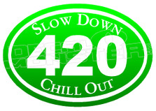 Marijuana Weed 420 Bumper Decal Sticker