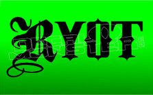 Marijuana Weed RYOT Decal Sticker