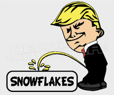 President Trump Pees on Snowflakes Decal Sticker