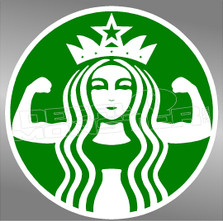 Strong Starbucks Enthusiast Decal Sticker