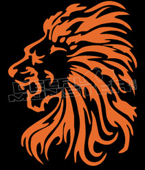 Brave Lion Silhouette Decal Sticker