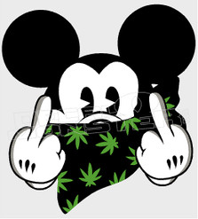 Marijuana Weed Mickey Mouse Decal Sticker