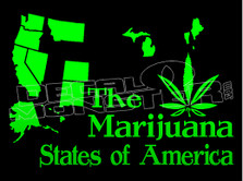 Marijuana Weed States of America Decal Sticker