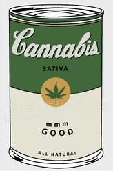 Marijuana Weed Cambells Soup Edition Decal Sticker