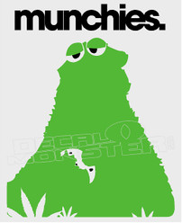 Marijuana Weed Cookie Monster Munchies Decal Sticker