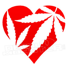 Marijuana Love Decal Sticker