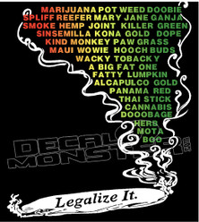 Marijuana Weed Blunt Legalization Decal Sticker