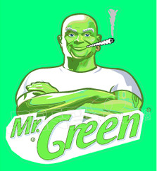 Marijuana Weed Mr Green Mr Clean Decal Sticker