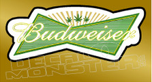 Marijuana Weed Budwiser Edition Decal Sticker