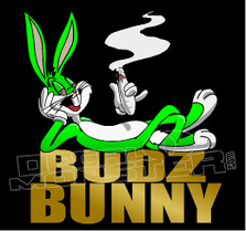 Marijuana Weed Budz Bunny Decal Sticker