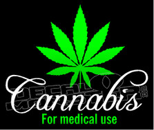 Cannabis For Medical Use Decal Sticker