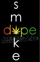 Marijuana Weed Rasta Smoke Dope Decal Sticker