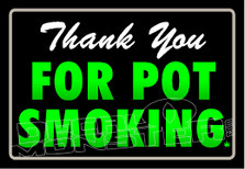 Storefront Sign Marijuana Weed Thank You for smoking Decal Sticker