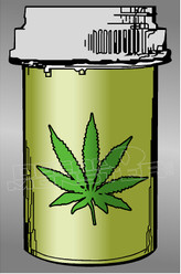 Marijuana Weed Capsul Case Decal Sticker