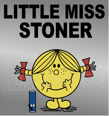 Marijuana Weed Little Miss Stoner Decal Sticker