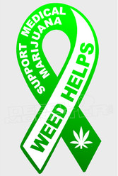 Medical Marijuana Weed Support 1 Decal Sticker