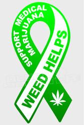Medical Marijuana Weed Support 1 Decal Sticker